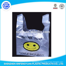 Vest Plastic Bag With Smile Logo