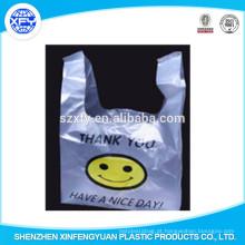 Vest saco de plástico com o logotipo do sorriso