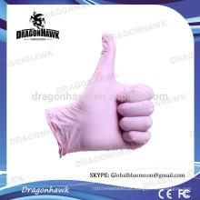 Luvas de nitrilo descartáveis por atacado Pink Color L