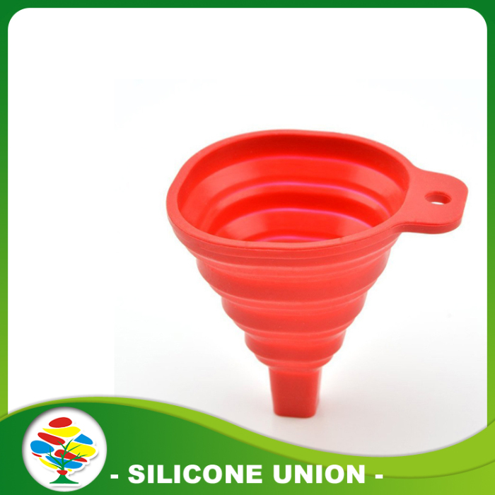 Silicone fold funnel with kitchen