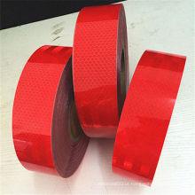 Fita reflexiva personalizada vermelha do animal de estimação da cor para o aviso da estrada