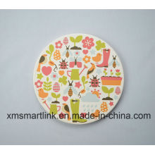 Souvenir Round Ceramic Decal Printing Coaster Gifts