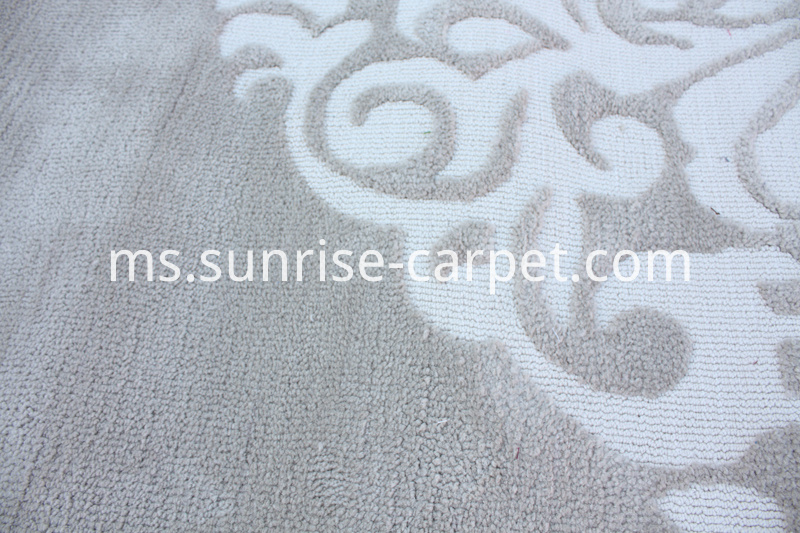 Round Machine Made Carpet with Design Rug