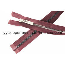 New Follow Fashion Trend Design Open End Plastic Zipper Long Chain Zipper