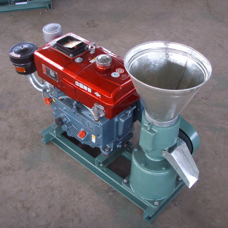 diesel engine pellet machine