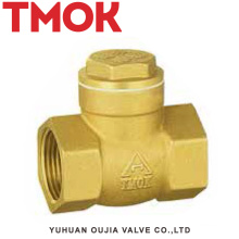 full brass horizontal female thread check valves