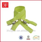 Two Sliders Nylon Zipper For Apparel
