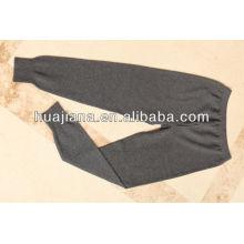 Leggares de cashmere masculinos sem costura para o inverno