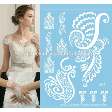 Beautiful girl body tattoo sticker for hands unique white lace tattoo j027