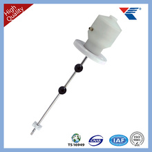 Anti-corrosive magnetostrictive liquid level sensor