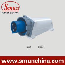 Plugue de montagem na parede Plug do painel 63A 125A IP67 220V 2p + E