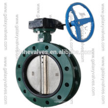 hydraulic class125/ PN16/JIS 10K U-type butterfly valves with DN150-DN1200