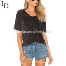 Обслуживание OEM оптовая продажа летом с коротким рукавом сексуальный женский футболка