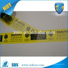 Saco de selagem de fita impressa, fita de vedação adesiva para saco de segurança