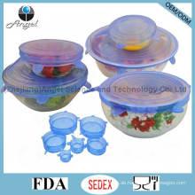 6PC Silikon-Ausdehnungs-Deckel, heiße Küche-Silikon-Nahrungsmittelabdeckung SL16