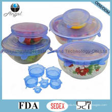 6PC Silicone Stretch Lid, Hot Kitchen Silicone Food Cover SL16