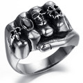 Stainless Steel Biker Skull Silver Big tinju Ring