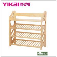 High quality solid wood shoe rack