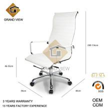 Couro branco alta vida moderna volta da cadeira de escritório (GV-OC-H306)