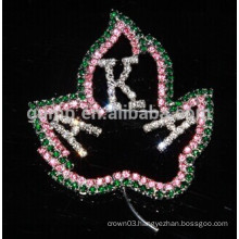 crystal letter pins custom design brooch
