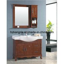 Cabinet de salle de bain en bois massif / vanité de salle de bain en bois massif (KD-445)