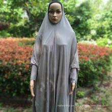 Moda básica simple dubai Ropa desgaste Mujeres islámica musulmán spandex abaya