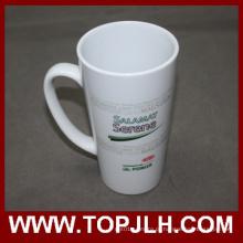 Caneca de café cerâmico especial 17 oz branco Cone copo