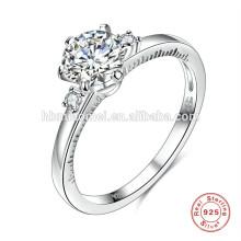 China Fabrik Versorgung Luxus Zirkonia Ring 925 Sterling Silber Ring China Großhandel Frauen Trauringe