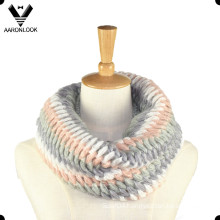 Fashion Acrylic Mohair Knit Snood for Lady