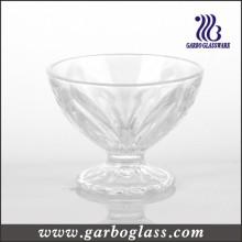 Copa tallada del helado del vidrio del verano