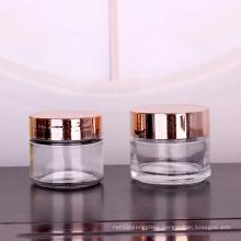 face cream glass jar with screw top shiny lids 120ml clear jar