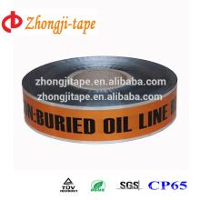 underground detectable oil line warning tape