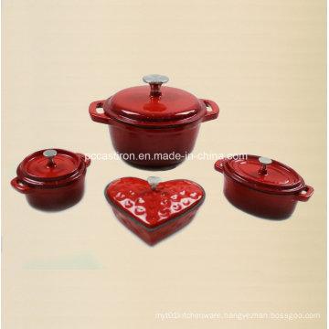 4PCS Cast Iron Cookware Set in Enamel Coating