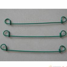 Fil galvanisé + fil enduit de lien de boucle de PVC