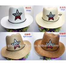 fashion children straw hat for kids lovely paper party hats