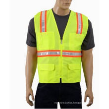 Flu Yellow Trafic Safety Vest with Crystral Tape (DFV1071)
