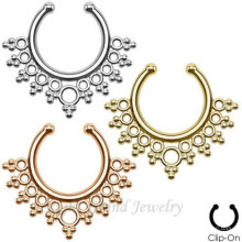 16G None Piercing Nose Ring Fake Septum Piercing Fake Septum