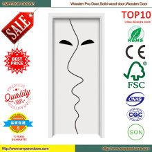 Más reciente diseño MDF impermeable PVC puerta