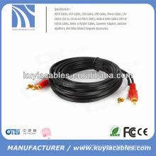 3.5mm a 2rca varón a varón cable de audio av 3M