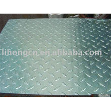 Galvanized checker plate