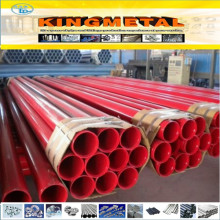 Red Painted with Grooved Each End ERW Fire Fighting Steel Tube