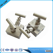 High pressure water manifold with gauge