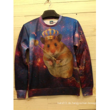 Hamster Queen Printing Langarm Pullover