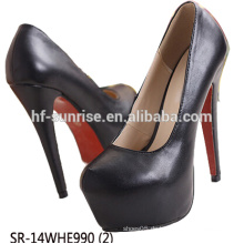 SR-14WHE990 (2) GroßhandelsAbsatz beschuht Frauen stilvolle Absatzschuhe reizvolle Glitterdamen-Absatzschuhe