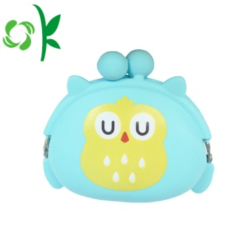 Qwl Shape Silicone Coin Bag Sac à main rond Cartton