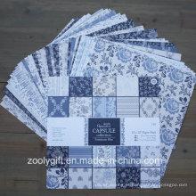 """Parisienne Blue 12X12 """"Papel Pack Scrapbook Patterned Pad Papel"""