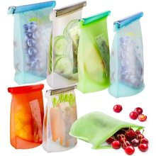 BPA free reusable silicone food storage bags