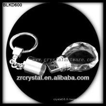 porte-clés en cristal disque flash USB