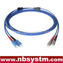 Blindado SC-FC de un solo modo dúplex fibra óptica Patch Cord