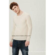 Half Fishmen costilla de acrílico de lana caber suéter de los hombres de punto